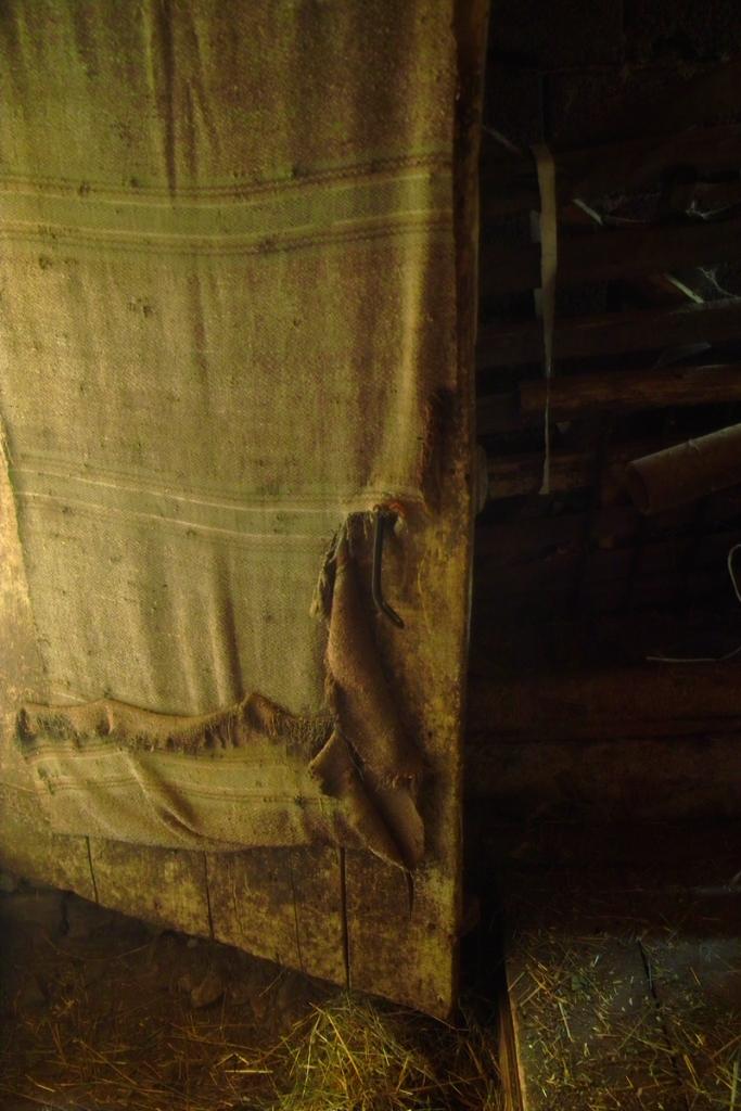Въпреки че е в дрипи 100-годишната врата все още има здрави панти